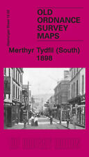 OLD ORDNANCE SURVEY MAP MERTHYR TYDFIL SOUTH 1898