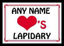 Love Heart Lapidary Personalised Mousemat