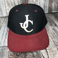 Vintage JC New Era Snapback Hat Cap USA Made Medium To Large Adjustable Red Brim