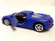 "Porsche Carrera GT, 5"" Diecast 1:32 ,Pull Back Action To Go, Toys Blue"