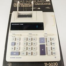 Vintage TI-5030 Texas Instruments Calculator with Box & Dust Cover Works