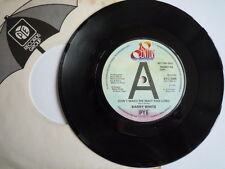 "Barry White ‎– Don't Make Me Wait Too Long 7"" – BTC 2309 PROMO  VINYL LOOKS MINT"