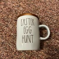"Rae Dunn Blue ""Easter Egg Hunt"" Mug With Wooden Lid"