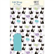 Gift Wrap & Tags - Kittens & Spots (2 Sheets+Tags)