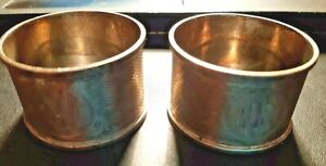 Two Antique Monogramed Silver Napkin Rings by Clark & Sewell Birmingham 1907