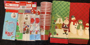 98 Wilton Christmas Treat Bags, 15 Disposable Cups, 2 Kitchen Towels