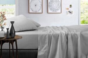 "600 TC 100% Egyptian Cotton Luxury Soft Sheet Set Solid 15"" Inch Deep Pocket"