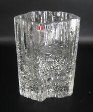 Iittala Glas Vase PINUS Tapio Wirkkala Design 60er / 70er Jahre Label Finnland