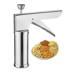AC,s S Steel Kitchen Press 15 Blade Noodles Cookies Snakes Murukku Bhujia Maker