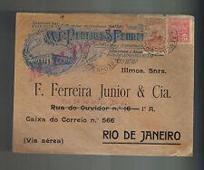1931 Pelotas Brazil Airmail Commercial cover to rio de Janeiro