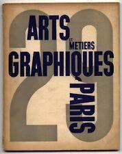 1932 A. M. Cassandre ARTS ET METIERS GRAPHIQUES 29 Deberny et Peignot Art Deco