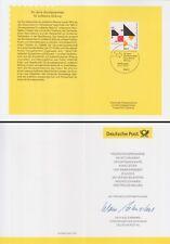 Pliante carte 7.11.02 Bundeszentrale pour formation politique (MiNr. 2287)