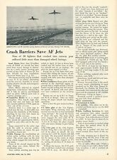 1953 Aviation Article Air Force Crash Barrier Used in Korea Jets Crashing