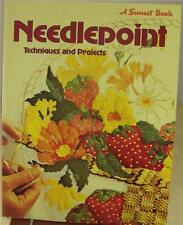SUNSET NEEDLEPOINT TECHNIQUES & PROJECTS IDEAS PATTERNS 1972 Vintage Classic