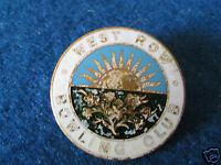 Vintage Enamel Badge - West Row Bowling Club - Made by HW Miller