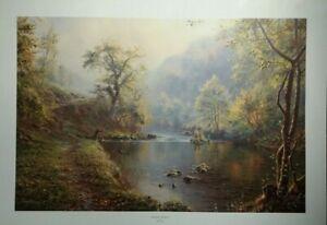 Peaceful Retreat Rex Preston Landscape Fishing Country Scene