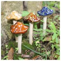 Ceramic garden Tinkling Toadstools home ornament Winter shades