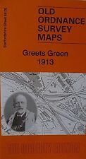 Old Ordnance Survey Map Greets Green near Dudley 1913 Sheet 68.09  Brand New