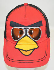 Angry Birds Trucker Baseball Cap Red w Black Mesh Adult Snap-back Rovio