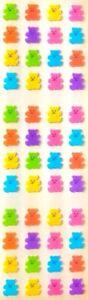 **RARE RARE RARE** FUZZY MICRO TEDDY BEARS BEAR Sandylion Stickers - 3 squares