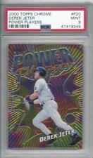 2000 Topps Chrome baseball card #P20 Derek Jeter, New York Yankees graded PSA 9