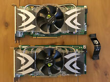 2x Nvidia GeForce 7900GTX 512MB Graphics Cards Dual DVI TV Our Plus SLi Cable