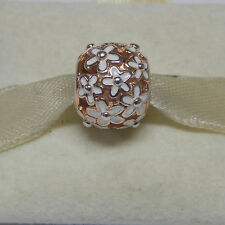 New Pandora Charm 780004EN12 Darling Daisy Meadow Rose Gold Bead Box Included