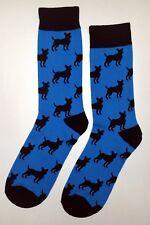 NWT Chiwawa Dog Shadow Dress Socks Novelty Men's 10-13 Sockfly Blue, Fun