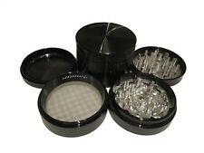 "Authentic SharpStone 2.5"" Inch Hard Top Herb Tobacco Black Large Grinder EXTRAS"