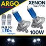 H7 100w Xenon White Super Halogen Headlight 499 Bulbs Hid 12v Led 501 Side light
