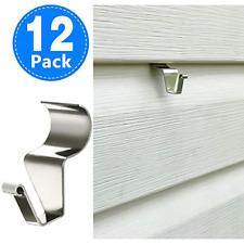12 Pack Vinyl Siding Hooks for Hanging Heavy Duty Stainless Steel No-Hole New