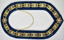 Masonic COLLAR Regalia 32 Degree WINGS DOWN SCOTTISH RITE BLUE VELVET