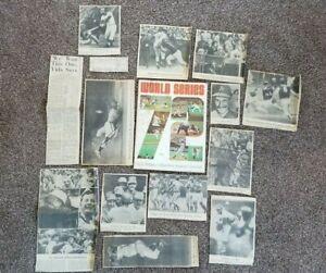 Vintage 1972 MLB World Series Official Program Reds vs. Athletics + Newspaper