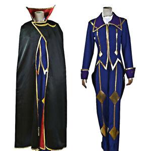 Custom Code Geass R2 Zero Lelouch Lamperouge Cosplay Costume Set