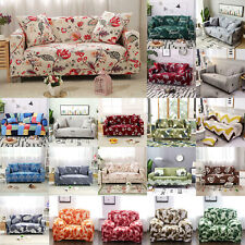 1/2/3/4 Seater Elastic Sofa Cover Slipcover Chair Stretch Floral Couch Protector