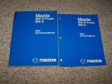 2003 Mazda MX-5 Miata Workshop Shop Service Repair Manual + Wiring Diagrams Book