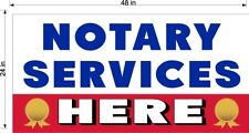 NEW PERFORATED WINDOW VINYL DECAL NOTARY SERVICES HERE 2' X 4' LARGE RED WHITE B
