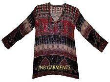 Indian Cotton Lurex Blouse Top Boho Ethnic Tunic Hippie Blusa Gypsy Women Ehs