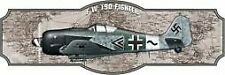Vintage Antique Style Metal Sign Fw190 Fighter 8x24