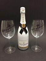 Moet Chandon Ice Imperial Champagner 0,75l 12% Vol + 2 Ice Imperial Glas Gläser