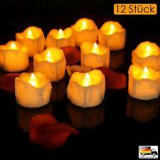12Pcs LED Kerzen Pretop LED Tee Lichter Flammenlose Kerzen mit Timer Batterie