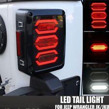 DOT Smoke LED Diamond Tail Light Reverse Brake Turn Signal For Jeep Wrangler