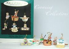 1994 Hallmark Baking Tiny Treats Mice Ornament Set Ed Seale Kitchen 6 Miniature