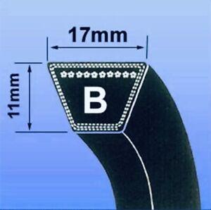 B SEC V BELT ( B SECTION BRANDED 17 x 11MM V BELT ) - CHOOSE SIZE IN INCHES)