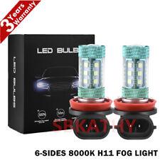 6-Sides H11 H8 H9 LED Fog Light 8000K Ice Blue 100W Headlight Bulbs High Power