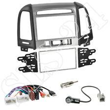 Hyundai Santa Fe ab 2011 Doppel 2-DIN Blende schwarz/silber+ISO Adapter+Antenne