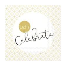 Paper Wedding Napkins Celebration Gold White Disposable Cocktail Party Serviette