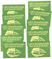 Lot of 10 1975 WFL Shreveport Steamer Football Schedules, Vintage, Birmingham ++