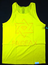 Diamond Supply Co Star of Fairfax tank top skate shirt men's yellow size LARGE