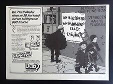 Rare publicité Dreft Quick et Flupke 1984 TBE
